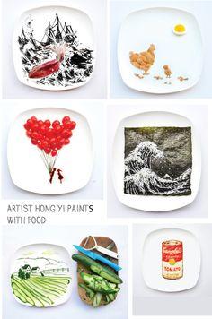 artist Hong Yi creativity with food