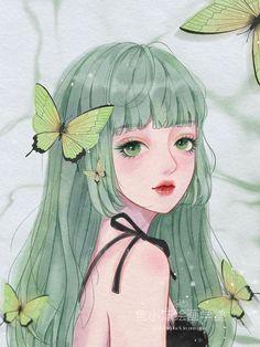 iPad头像练习_鱼小沫__插画师作品_涂鸦王国gracg.com Beautiful Anime Girl, Anime Girl Cute, Anime Art Girl, Cartoon Girl Images, Girl Cartoon, Cartoon Art, Anime Girl Drawings, Anime Couples Drawings, Arte Grunge