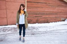 a Montana Style Blog… Love this look.. transitioning from winter to spring Photo by Brooke Peterson Photography