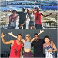 Taylor with Jason Derulo and two of her dancers before the 1989 World Tour in DC night two 7.14.15