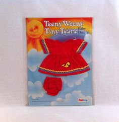 NEW 1980s Palitoy ☆ Teeny Weeny Tiny Tears ☆ Vintage Baby Outfit #32271 MOC in Dolls & Bears, Dolls, Clothing & Accessories, Vintage Dolls   eBay