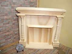 Dollhouse Miniature 1:12 Fireplace & Accessories Monticello Wood  HW#2401