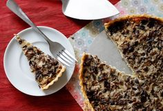 A creamy tart packed with earthy mushrooms sitting atop a flaky crispy cornmeal crust. Wild Mushrooms, Stuffed Mushrooms, Mushroom Tart, Mushroom Appetizers, Cup Of Soup, Vegetarian Dinners, Vegetable Side Dishes, Pie Recipes, Tasty