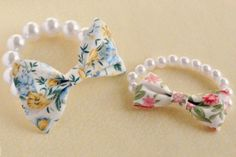 Bow & pearl Bracelet Diy