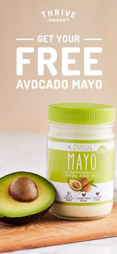 Discover Thrive Market for up to 50% off organic products. Plus get your FREE full jar of Avocado Mayo from Thrive Market today!: