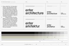 Brand guidelines designed by Lundgren+Lindqvist for Swedish architecture studio Lundgren+Lindqvist
