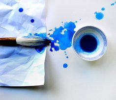 Blue is such a soothing color even when it's messy.