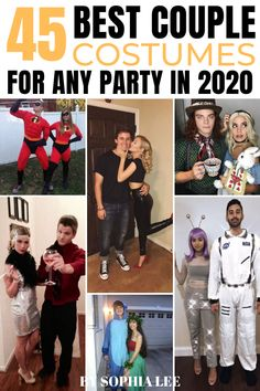 seriously the best couple costumes for halloween 2020!! can't wait to copy! Halloween Costunes, Easy College Halloween Costumes, Best Couples Costumes, Couple Halloween Costumes For Adults, Homemade Halloween Costumes, College Couple Costumes, Costume Ideas, Parties, Friends