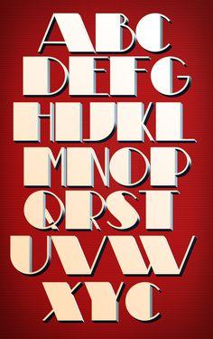 Theatrial font by Vladimir Nikilic - Coroflot