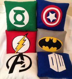 10 inch x 10 inch Superhero cushion .Pick your design:Avengers, Batman, Superman, Captain America,Green Lantern, Spiderman, Flash
