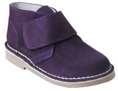 Bota Safari - Desert boots de color morado. En piel de serraje con cierre de velcro.
