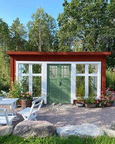 Garden Room, Amazing Gardens, Cottage, Outdoor Space, Tiny Cottage, House Exterior, Small House, House In The Woods, Outdoor Inspirations
