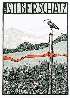 Der  Silberschatz by Kat Menschik Illustration, Graphic Novels, Drawings, Ted, Friends, Book, Illustrations, Silver, Drawing S