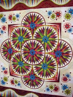 Amazing quilt -- daring color choices.