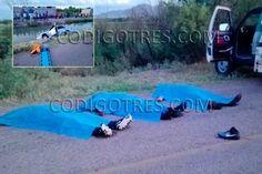 <p></p>  <p>Meoqui.- Tres jóvenes murieron la tarde del domingo en el interior de un canal de riego luego de caer en el vehículo