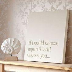 I'd choose you...