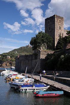 Collioure Castle and harbour, southwest, France