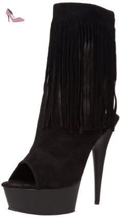 Pleaser - Delight 1019 - Sans doublure Bottes mi-mollet femme, Noir (Blk Suede/Blk Matte), 40 - Chaussures pleaser (*Partner-Link)