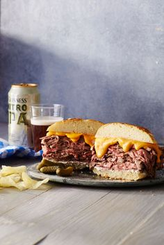 Roast Beef Sandwich with Cheddar and Horseradish | MyRecipes   We are not thinkin' Arbys-- not after an amazing homemade roast beef sandwich like this one.
