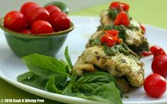 Pistachio Pesto Crusted Chicken - Gluten Free and Dairy Free Whole Food Recipes, Healthy Recipes, Healthy Meals, Elimination Diet Recipes, Dairy Free Pesto, Pistachio Pesto, Fast Easy Meals, Turkey Dishes, Allergy Free Recipes