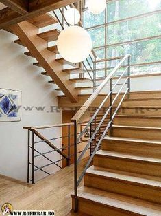 Floating Stairs, Railing Ideas, Living Room, Exterior, Home Decor, House Staircase, Banisters, Minimalist, Puertas