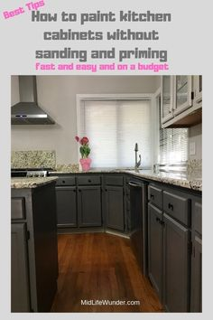 Paint your kitchen cabinets without sanding and priming DIY Colorful Designer White Kitchen Cabinets Cabinets Colorful Designer DIY Kitchen Paint Priming Sanding Cheap Kitchen Remodel, Cheap Kitchen Cabinets, Painting Kitchen Cabinets, Kitchen Paint, Kitchen Furniture, Kitchen Remodeling, Remodeling Ideas, Basement Kitchen, How To Refinish Cabinets