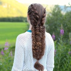 """4 strand and fishtail braid combo. The tutorial for this is up on our YouTube channel, link in bio❤️ Which other of our hairstyles would you like to see a tutorial on? Comment with a """""""" underneath the picture of the hairstyle you would like to see a tutorial on!"""
