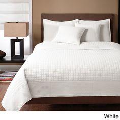 Essex 100-percent Cotton Quilted-square 3-piece Design Quilt Set   Overstock.com