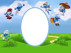 Smurfs Transparent Kids Frame