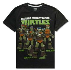 Boys Turtle Mutant Half Sleeve Round Neck T-shirt available only at kapkids