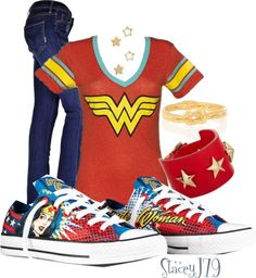 "Wonder Woman Converse | Converse Contest - Wonder Woman"" by staceyj79 on Polyvore"