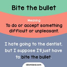 Have you ever bit the bullet? #idiom #idioms #english #learnenglish #bullet
