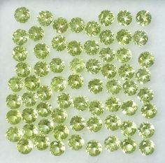 100 PC LOT NATURAL PERIDOT 2 X 2 MM ROUND FACETED CUT LOOSE GEMSTONES CALIBRATED #ROUNDSNROSES