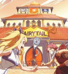 Lucy, Natsu and Happy - Fairy Tail. Fairy Tail Natsu And Lucy, Fairy Tail Love, Fairy Tail Nalu, Fairy Tail Ships, Erza Scarlet, Death Note, Totoro, Sword Art Online, Fairy Tail Tumblr