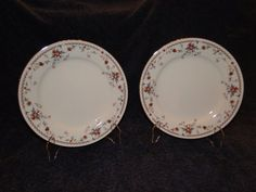 $9.99 NORITAKE ADAGIO # 7237 IVORY CHINA Salad Plate 8 1/8 inches-Set of 2 - EXCELLENT #Noritake