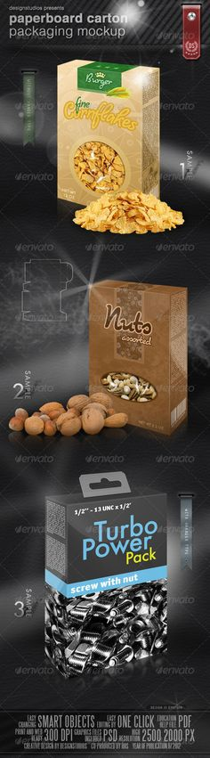 Paperboard Carton Packaging Mock-Up -  designstudios on graphicriver, $5