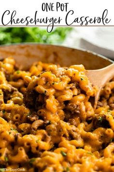 This Cheeseburger Casserole is comfort at it's best and is prepared in a single pot on the stove top! It's cheesy, meaty, and a delicious homemade version of Hamburger Helper! |The Cozy Cook | #hamburgerhelper #cheeseburger casserole #comfortfood #dinner #macaroni #groundbeef #cheese