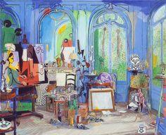 Picasso's studio 1956