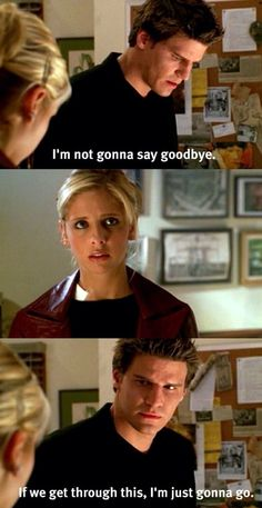 Poor Buffy. She tries to stay away from him and end it, then he's got puppy dog eyes and thy get back together. Then he breaks up with her when she had ended it to begin with. So tragic