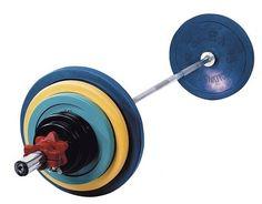 Olympische halterset RS Sports 140 kg  Description: Professionele Olympische halterset RS met een totaal gewicht van 140 kg. Deze Olympische halterset wordt compleet geleverd met een Olympische stang van 220 cm en spinlock sluiters voor het veilig vastzetten van de schijven. \\n De set wordt geleverd met rubber schijven die een diameter hebben van 50 mm (Olympische schijven) ieder zwaarder gewicht in deze set heeft een eigen kleur. \\n \\n Olympische halterset RS bestaat uit: - Olympische…