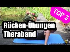 Rückentraining zu hause - 3 Theraband Übungen für den Rücken - Rückenmuskulatur stärken - YouTube