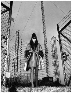 Catherine Pastrie in fashion by Bonnie Cashin, photo by Helmut Newton, British Vogue, November 1966