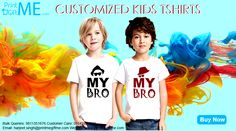 Kids Customised Tshirts now available at www.printmegiftme.com. For bulk orders contact on 9811351676/01142420773.