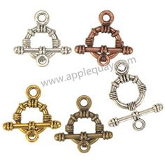 Zinc Alloy OT Clasps,Plated,Cadmium And Lead Free,Various Color For Choice,Approx 21.5*15.5*3.5mm,Bar:8.5*23.5*3.5mm,Hole:Approx 2.5mm,Sold By Bags,No 002215