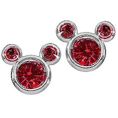 Birthstone Mickey Mouse Earrings