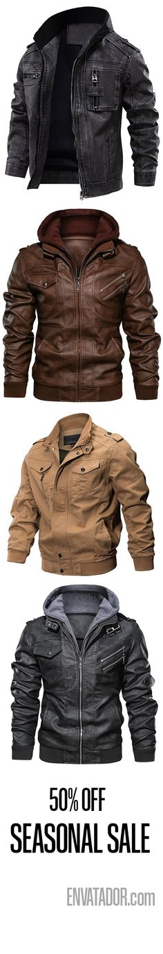 MENS ARMA LEATHER JACKET PIG LEATHER REAL LEATHER JACKET BROWN