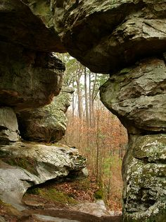 The Natural Bridge, along the Seven Hollows Trail at Petit Jean Mountain State Park in Arkansas. #AETN #BeMore