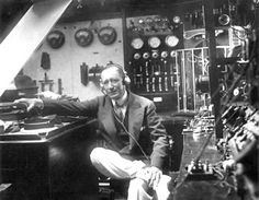 Marconi in the lab. All of this fits on a corner of a silicon chip now.