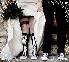Emo wedding- Converse :D That's too cute!