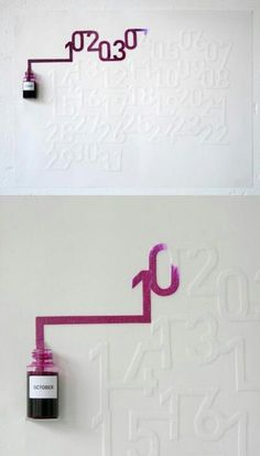 Ink calendar absorbs Ink as the days go by